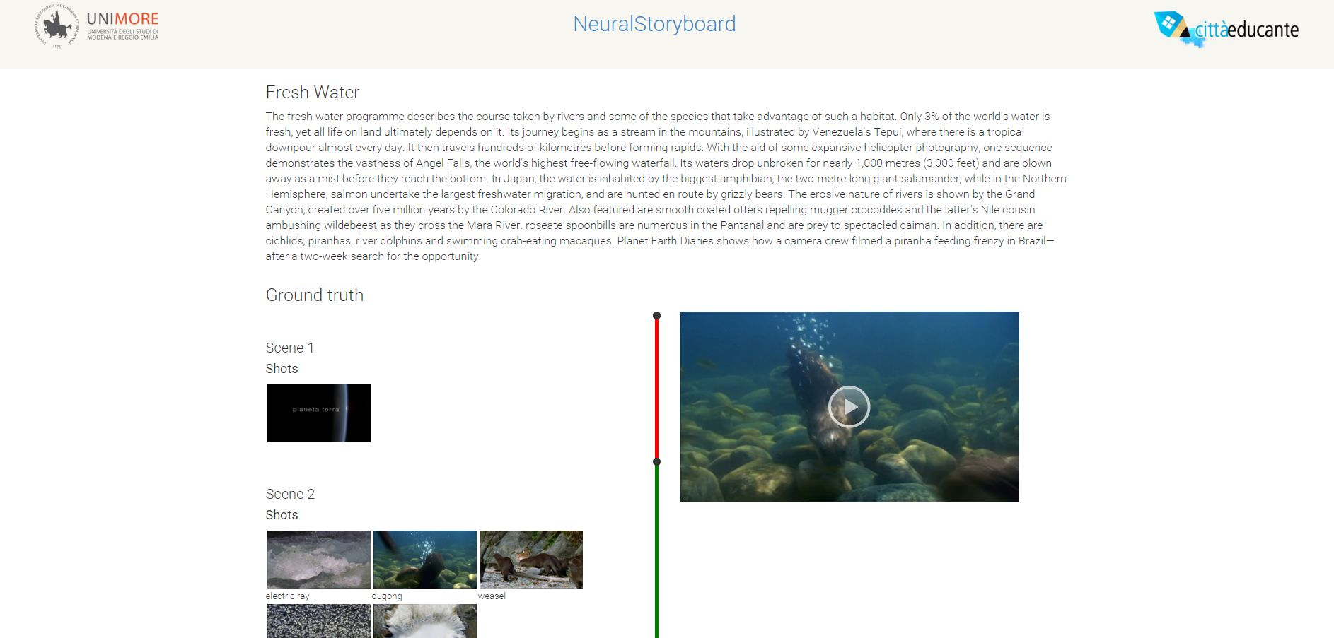 NeuralStory Demo interface